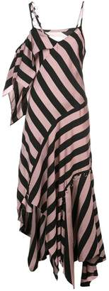 Marques Almeida Marques'Almeida striped asymmetric maxi dress