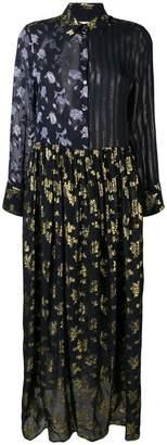 Semi-Couture Semicouture embroidered flared maxi dress