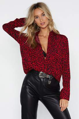 Nasty Gal Claws Out Leopard Top