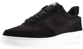 Nike Force 1 07 Suede Trainers Black