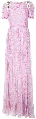 Carolina Herrera floral print embellished gown