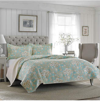 Laura Ashley Twin Brompton Serene Quilt Set Bedding