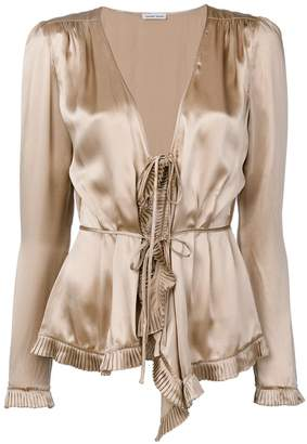 Tomas Maier tied ruffled blouse