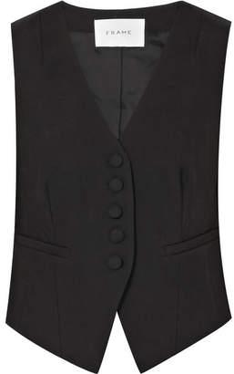 Frame Wool Vest - Black