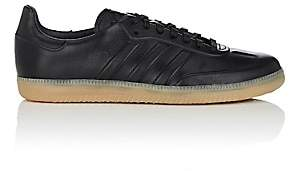 adidas Men's BNY Sole Series: Men's Samba Leather Sneakers-Black