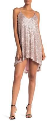NSR Hi-Lo Sequin Mini Dress