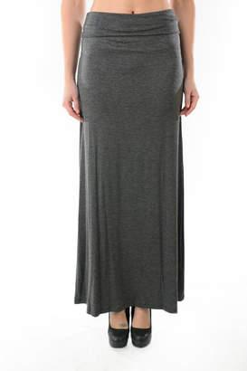 T Party Foldover Waist Maxi Skirt