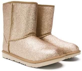 UGG TEEN glittery snow boots
