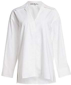 Acne Studios Women's Long-Sleeve Cotton Shirt
