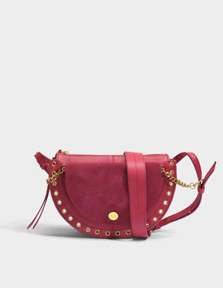 See by Chloe Kriss Small Crossbody Bag in Berry Pink Grained Cowhide Leather and Suede Leather