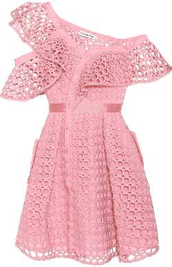 Self-Portrait Self Portrait Pink Lace Frill Dress