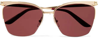 Cartier Eyewear - Cat-eye Gold-tone Sunglasses