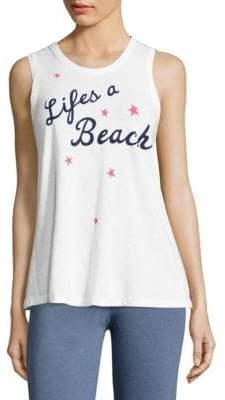 Peserico Life's A Beach Graphic Tank Top