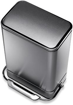 simplehuman® 38-Liter Rectangular Fingerprint Proof Steel Bar Step Trash Can