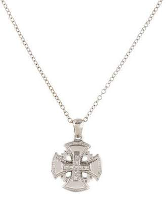 Reiss I. 14K Diamond Cross Pendant Necklace