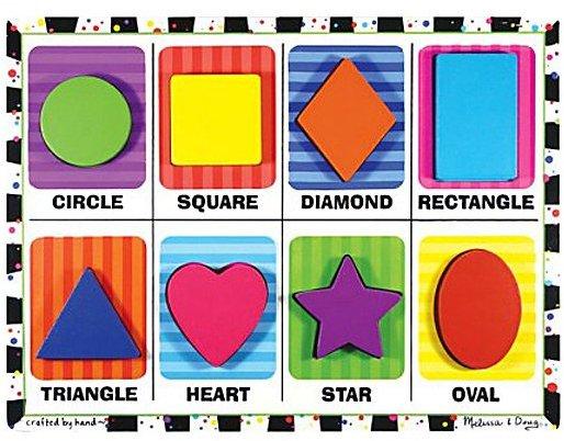 Melissa & Doug Shapes Chunky Puzzle (8 pc)