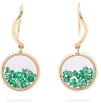 Aurelie Bidermann Fine Jewellery Fine Jewellery - Chivor Emerald & 18kt Gold Earrings - Womens - Green