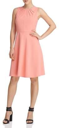 Donna Karan Sleeveless Pleat-Detail Dress