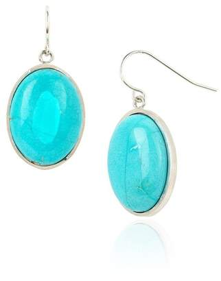 Johnny Was Oval Turquoise Earrings