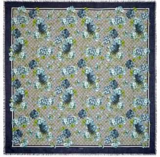 Gucci GG Blooms print modal-silk shawl