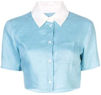 STAUD cropped button-up shirt