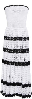 Rodarte Hand-Crocheted Striped Dress