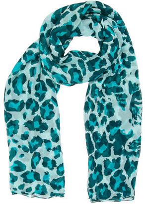 Diane von Furstenberg Multicolor Leopard Printed Scarf $65 thestylecure.com