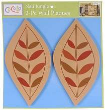 CoCalo Baby Nali Jungle 2 Pc. Decorative Wall Plaques - Diecut Wood Leaves
