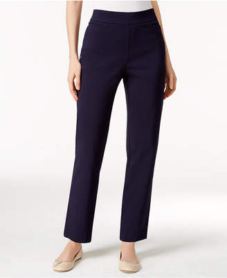 Alfred Dunner Petite Classics Tummy-Control Pull-On Straight-Leg Pants
