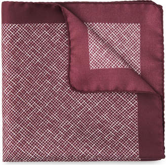 Whistles Cross Hatch Silk Pocket Square
