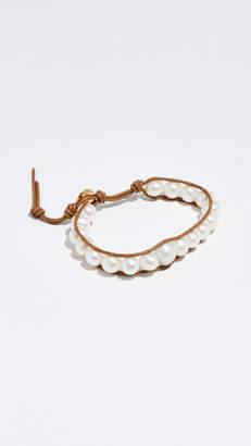 Chan Luu Cultured Pearl Leather Bracelet