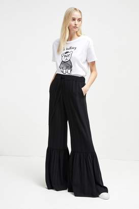 French Connenction Aleida Suiting Bell Bottom Trousers