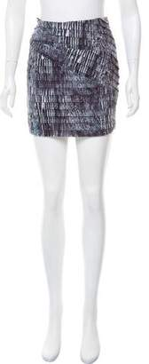 Torn By Ronny Kobo Tiered Mini Skirt