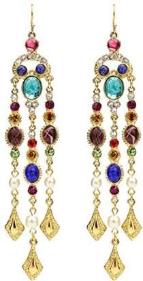 Crystal Pearl Ben-Amun Jewelry Victoria Fish Hook Earrings