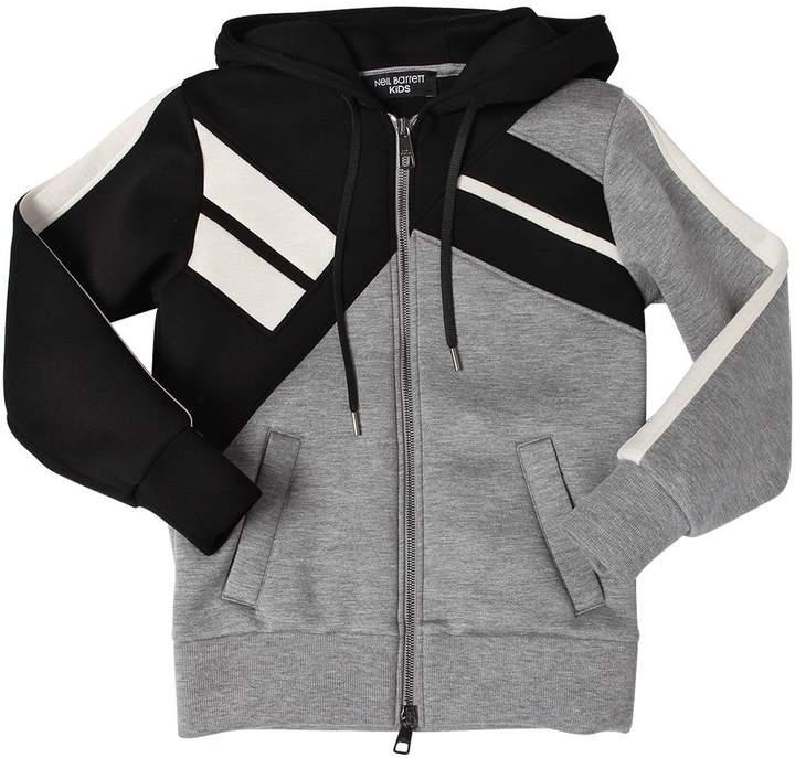 Sweatshirt Aus Jersey Mit Kapuze Und Zip