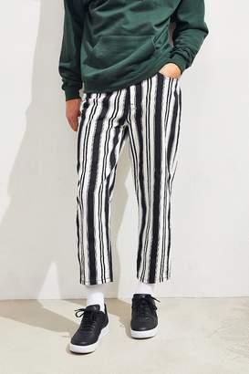BDG Black Stripe Straight Cropped Jean
