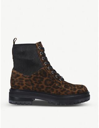 Gianvito Rossi Martis 20 leopard-print suede boots