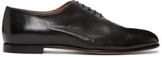 Brioni Black Leather Oxfords