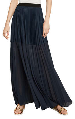 BCBGMAXAZRIA Tisa Colorblocked Pleated Maxi Skirt