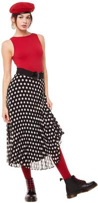 Juicy Couture All Over Dot Pleated Skirt
