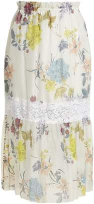 See by Chloe Floral paper-bag midi skirt