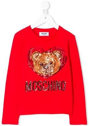 Moschino Kids TEEN sequin embroidery T-shirt