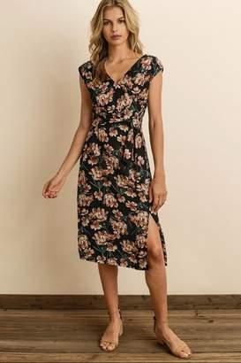 Dress Forum Floral Wrap Midi-Dress