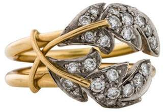 Tiffany & Co. 18K Diamond Leaves Ring yellow 18K Diamond Leaves Ring