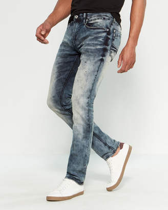 Buffalo David Bitton Marble Wash Max-X Super Skinny Stretch Jeans