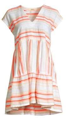 Lemlem Fiesta Striped V-Neck Dress