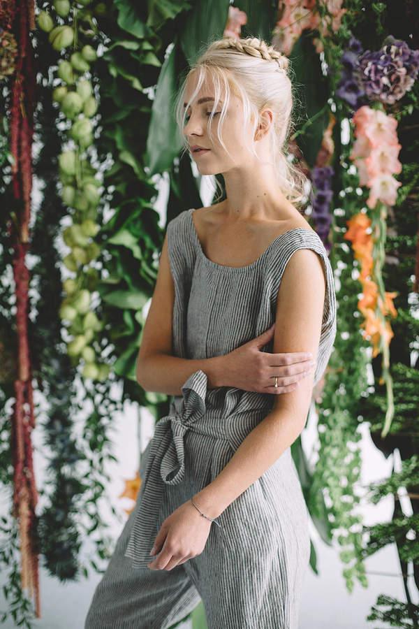 Etsy Linen jumpsuit / Loose linen Jumpsuit / Linen overall / Linen women romper / Linen clothes / Graphit
