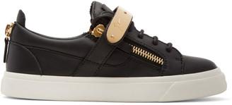 Giuseppe Zanotti Black London Sneakers $765 thestylecure.com