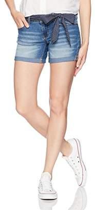 U.S. Polo Assn. Women's Belted Stretch Denim 5 Pocket Short