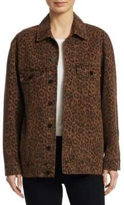 Alexander Wang Daze Leopard Print Jacket